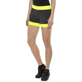 Mizuno Mujin 4.5 2in1 Shorts Women Black/Safety Yellow